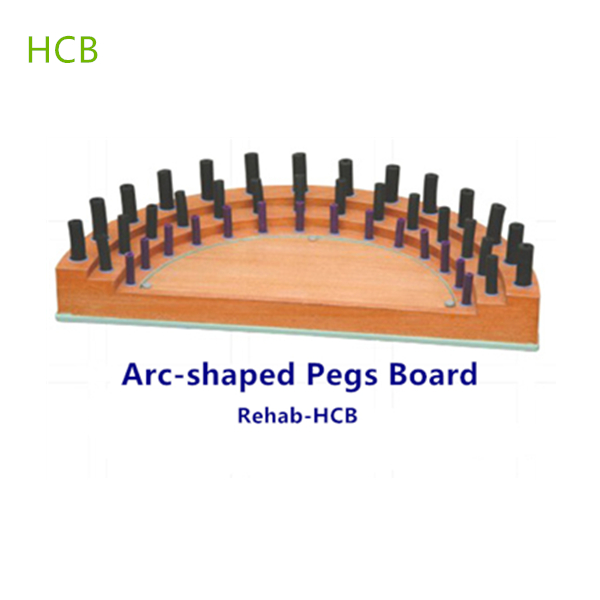 Wooden Peg Inserting Board Occupational Therapy Equipments