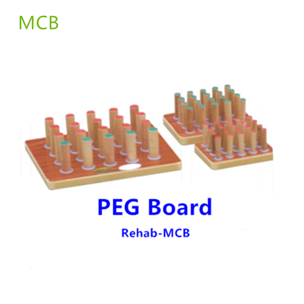 Wooden Peg Inserting Board Occupational Therapy Equipments-MCB